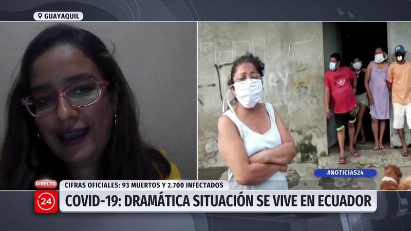 Periodista desde Ecuador No retiran los cuerpos porque no están los recursos 24 Horas TVN Chile