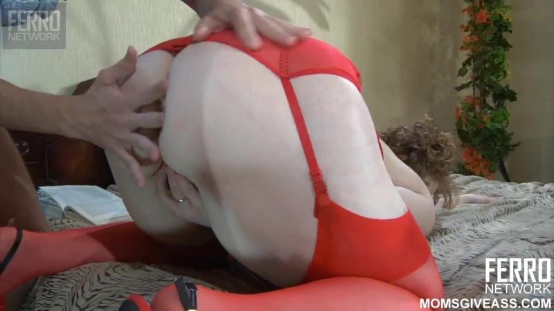 Отодрал попку мамани в чулках как следует, mature, milf, bbw. anal, русское порн