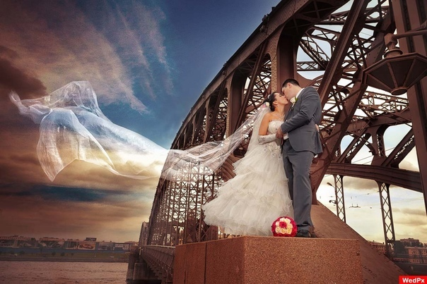 А свадьба пела и плясала... На стрелке Васильевского Невеста красивая как торт, жених тщедушный, косой от гормонов. Он готов порвать это облако в пух. Но вечером напьётся, обслюнявит ей плечо и