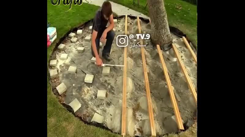 Оформляем дерево на участке Заметки строителя