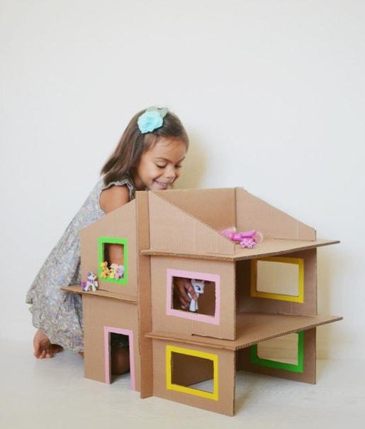 Делаем домик из картона Детям 3,