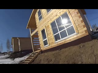 Можно ли сразу жить в доме из бруса, строительство деревянного дома