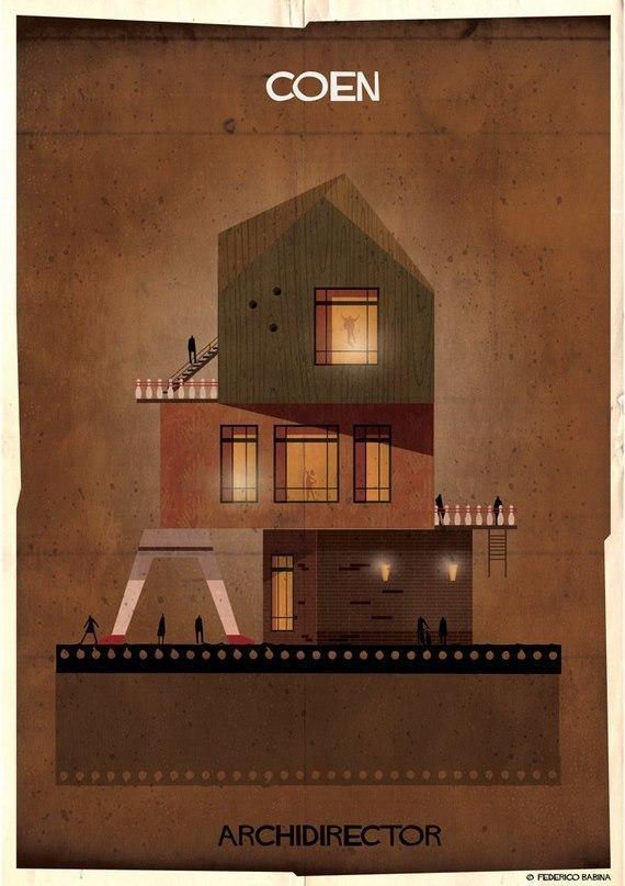 Если бы кинорежиссеры были домами.
