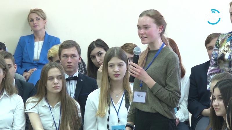 100 вопросов взрослому Глава городского округа встретился с учениками школ 18 04 19