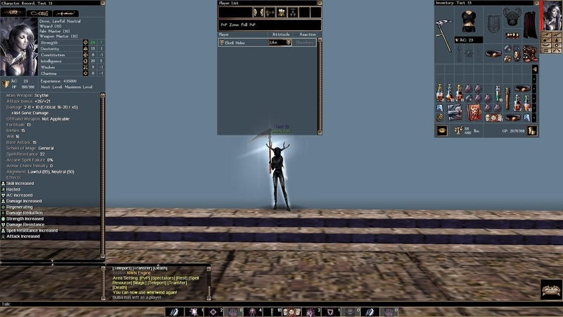 NWN: EE: Arelith, Мой Билд(21): Race: Drow, Classes: Wizard Pale Master Weapon Master, 21, 47, 90(24.05.2019)
