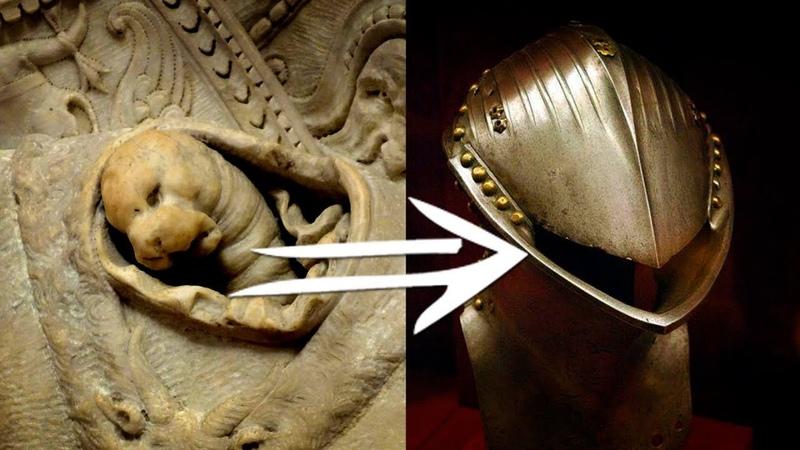Внутри доспехов прятались рептилоиды или молюски Часть 1