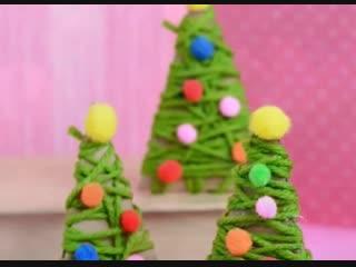 Простые и симпатичные ёлочки-игрушки