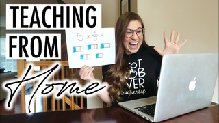 A Day in the Life of a Teacher Teaching from Home During COVID19   VLOG