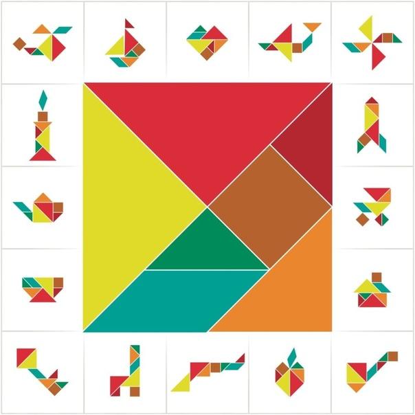 ГОЛОВОЛОМКА ТАНГРАМ (,СХЕМЫ) Головоломка направлена на развитие логического, пространственного и конструктивного мышления, сообразительности. В результате этих игровых упражнений и заданий,