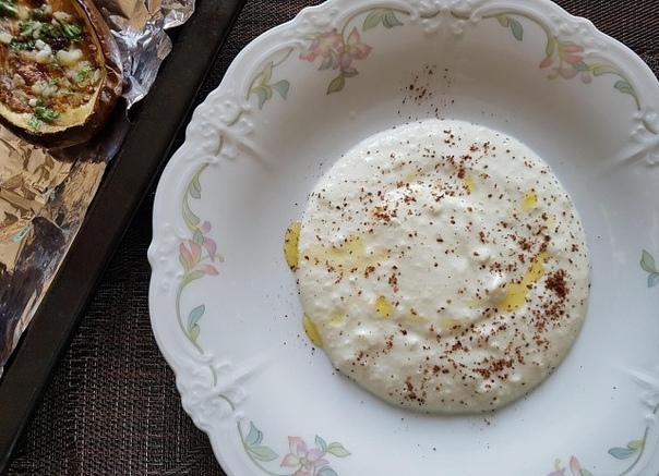 Баклажаны запеченные в духовке с йогуртом и чесночно-лимонной заправкой