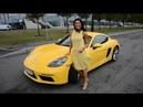 Татьяна и ее желтая туфелька Porsche 718 Cayman Глав тест драйв / Glav Test Drive