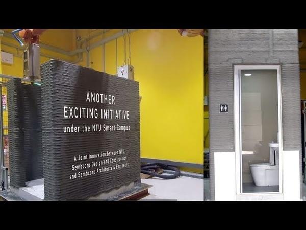 NTU Singapore develops technology to 3D-print a bathroom unit in less than a day