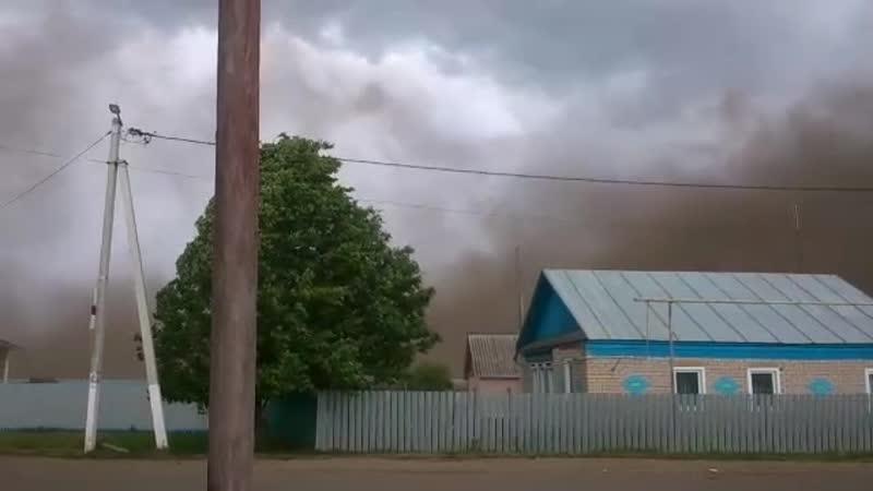 В Татарстане ветер поднял пыльную бурю
