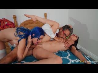 Alex Coal, Jewelz Blu - Dildo Fight - Porno, Big TIts, Threesome, Blowjob, Black Hair, Sex Toys, School, Porn