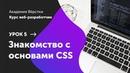 Урок 5. Знакомство с основами CSS | Курс Веб разработчик | Академия верстки
