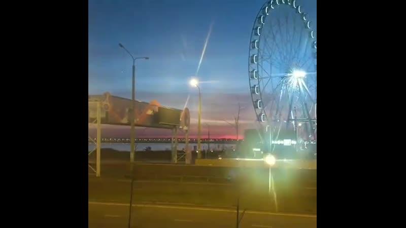Вот так происходит закат за окнами @ city_lounge_bar_kazan 🎡🌉😍 Какой же красивый у нас город🌃 Ждём всех сегодня! У нас всегда пр