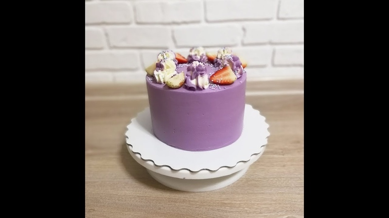 Выравниваем торт Покрытие крем чиз на сливках