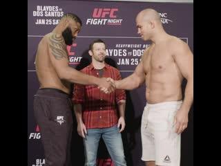 Взвешивание UFC Роли: Блэйдс vs Дос Сантос