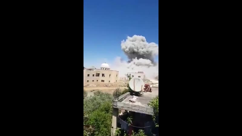 Brutal shelling of terrorist positions in the South of Idlib by the Russian and Syrian