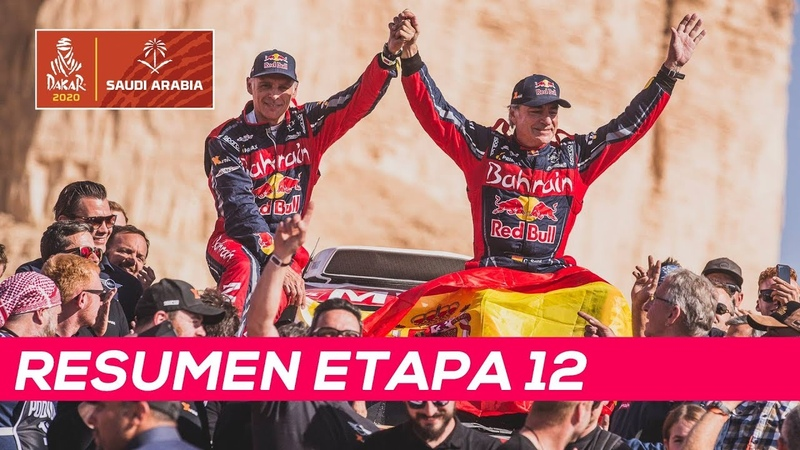 Carlos Sainz hace historia y gana su tercer Dakar   Resumen Etapa 12 Dakar 2020