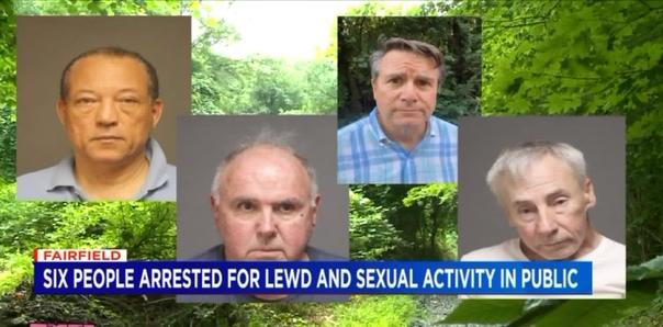 Сотрудники полиции американского штата Коннектикут задержали 6 человек, которые устроили оргию в лесу Развратные пенсионеры: 67-летний Дэниэл Доббинс, 62-летний Отто Д. Уильямс, 75-летний Чарльз