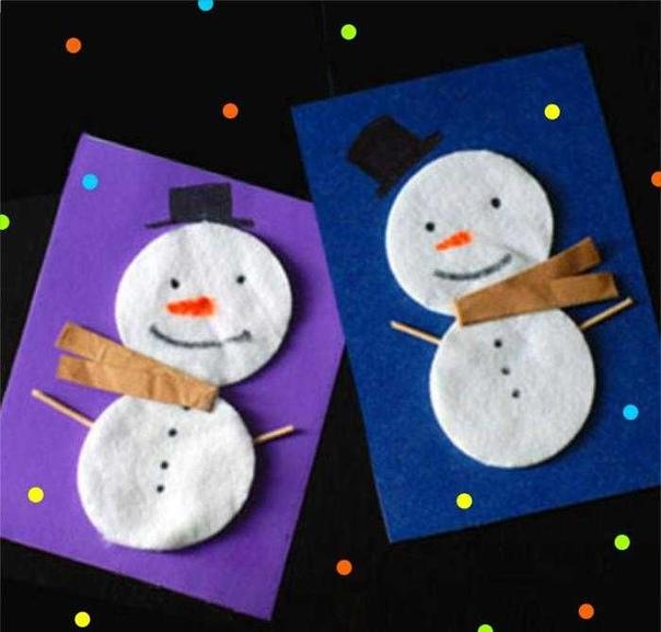 Предлагаю вам интересные идеи аппликаций, поделок на зимнюю новогоднюю тематику для детей из и -