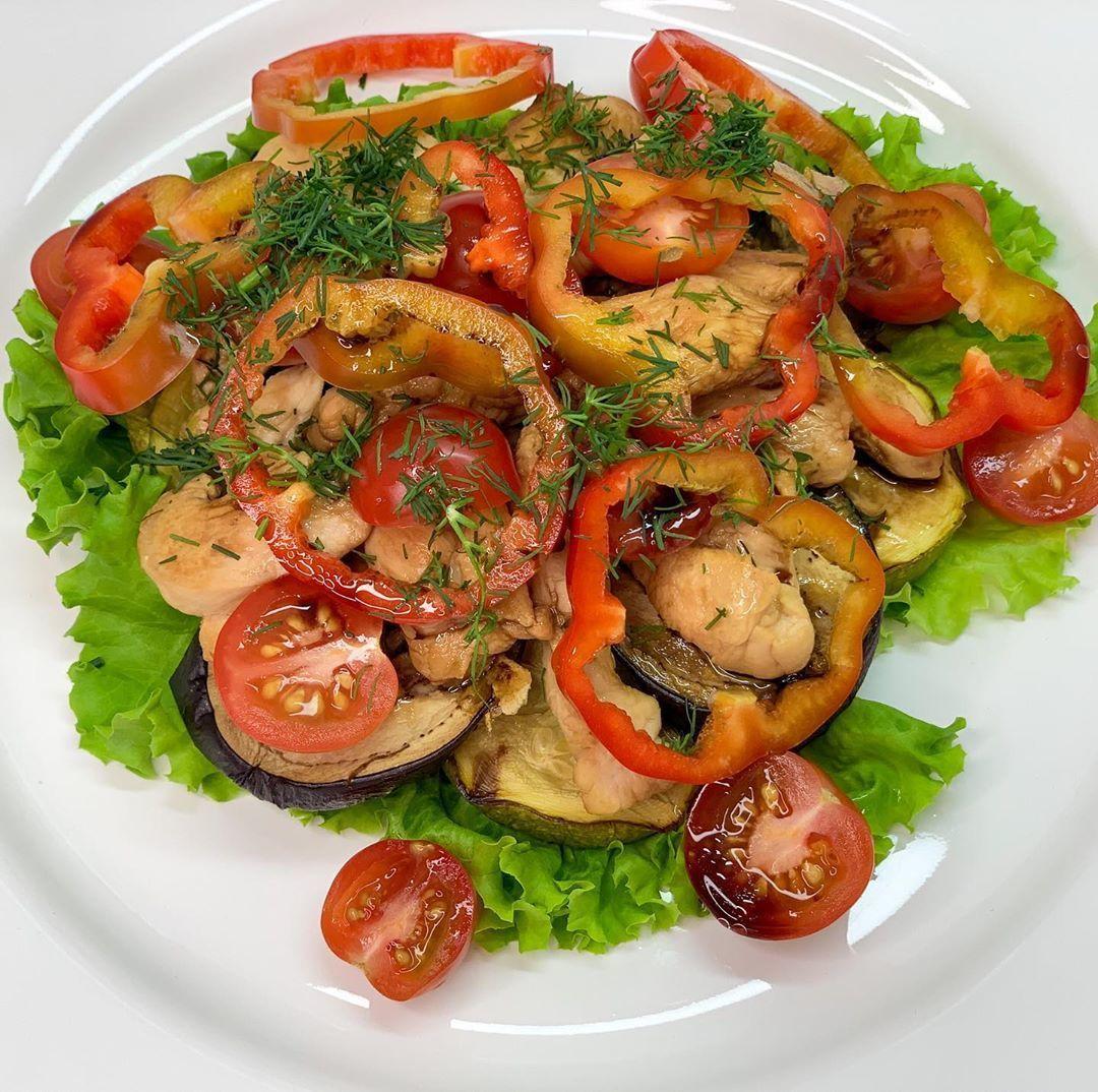 Теплый салат на ужин