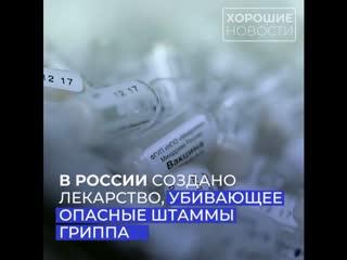 Российские ученые сделали прорыв в лечении опасных видов гриппа