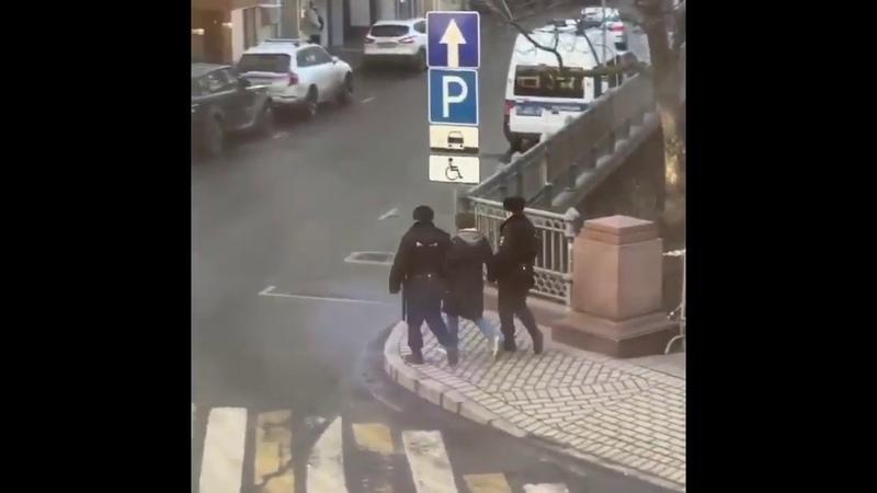 4 марта в Москве недалеко от Патриарших прудов полицейские задержали мужчину Иисуса Воробьева гулявшего с собакой