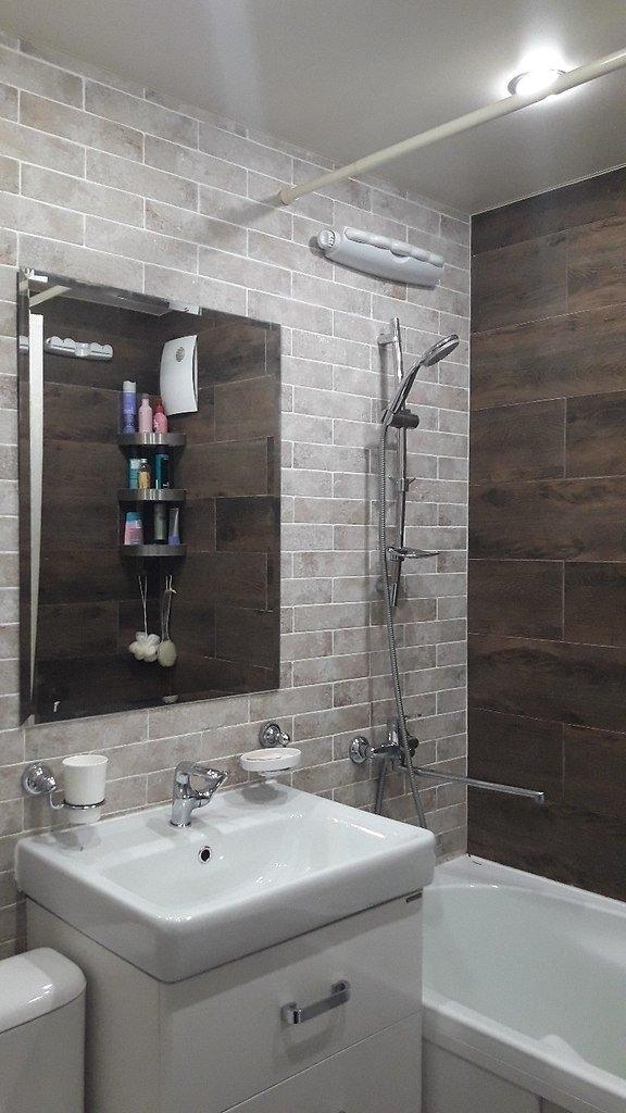 Ванная комната, сделанная своими руками. Вот такой ремонт получился в хрущёвке. Как вам работа?