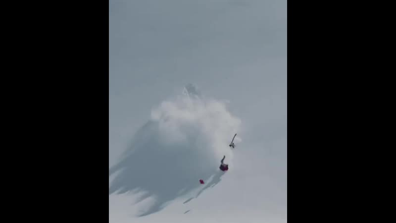 Жёсткая уборка лыжника