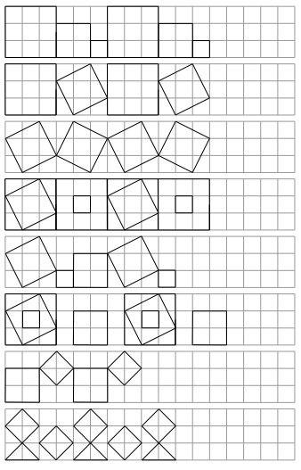 ПОВТOРИ ПО КЛЕТOЧКАМ В прикрепленном файле шесть страниц с разными фигурами, которые нужно повторить по клеточкам. Несложно, интересно и полезно для развития графомоторики и