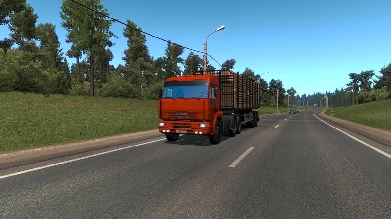✅🎥Euro Truck Simulator 2 v.1.37.x доставка пиломатериалов 20т. на КамАЗ 6460