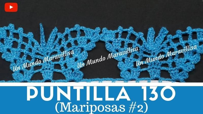 Puntilla 130 Mariposas 2 un Mundo Maravillisa