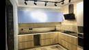 Air Kitchen Обзор большой кухни голубой матовый ДСП EGGER Blum Resopal