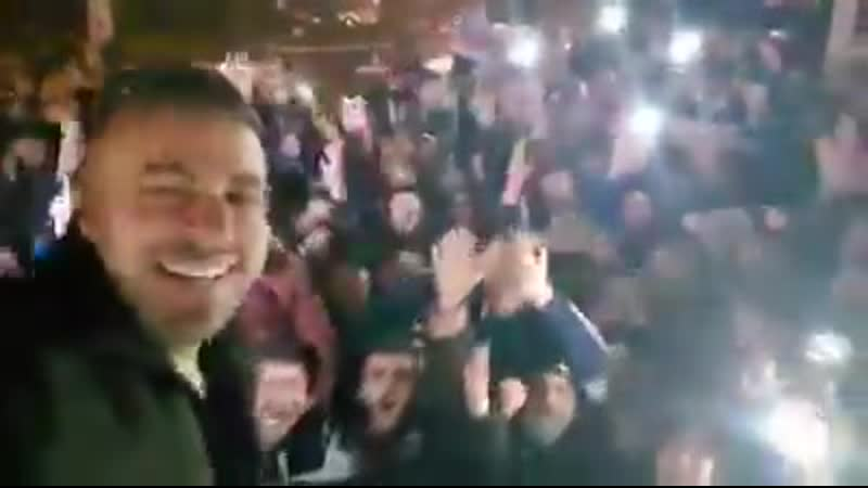Residents of Aleppo are still cheering, chanting - - Allah souria, bashar w bas ️.mp4