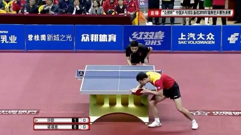 Xu Xin 许昕 vs Liang Jingkun 梁靖崑 | Warm-Up Matches for 2018 WTTTC Highlights