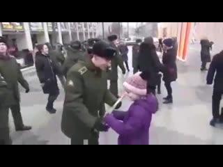 Поздравление с 8 марта от курсантов Военного университета |