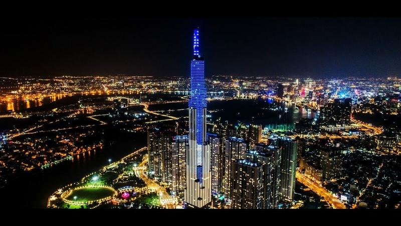 Kinh đô ánh sáng Sài Gòn về đêm nhìn từ flycam Ho Chi Minh City At Night 2019