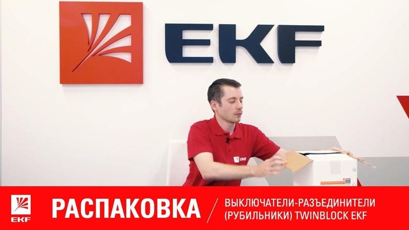 Распаковка Выключатели разъединители рубильники TwinBlock EKF PROxima