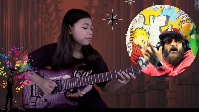 My first time hearing (Ayu Gusfanz cover)On Peregrine Wings By Joe Satriani BUDDA SLIM REACTION