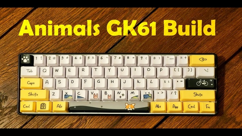 Animals GK61 Mechanical Keyboard Kailh Box Navy