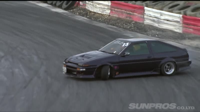Drift Tengoku 62 — 注目マシン のむけん同乗走行 at Bihoku Highland Circuit.