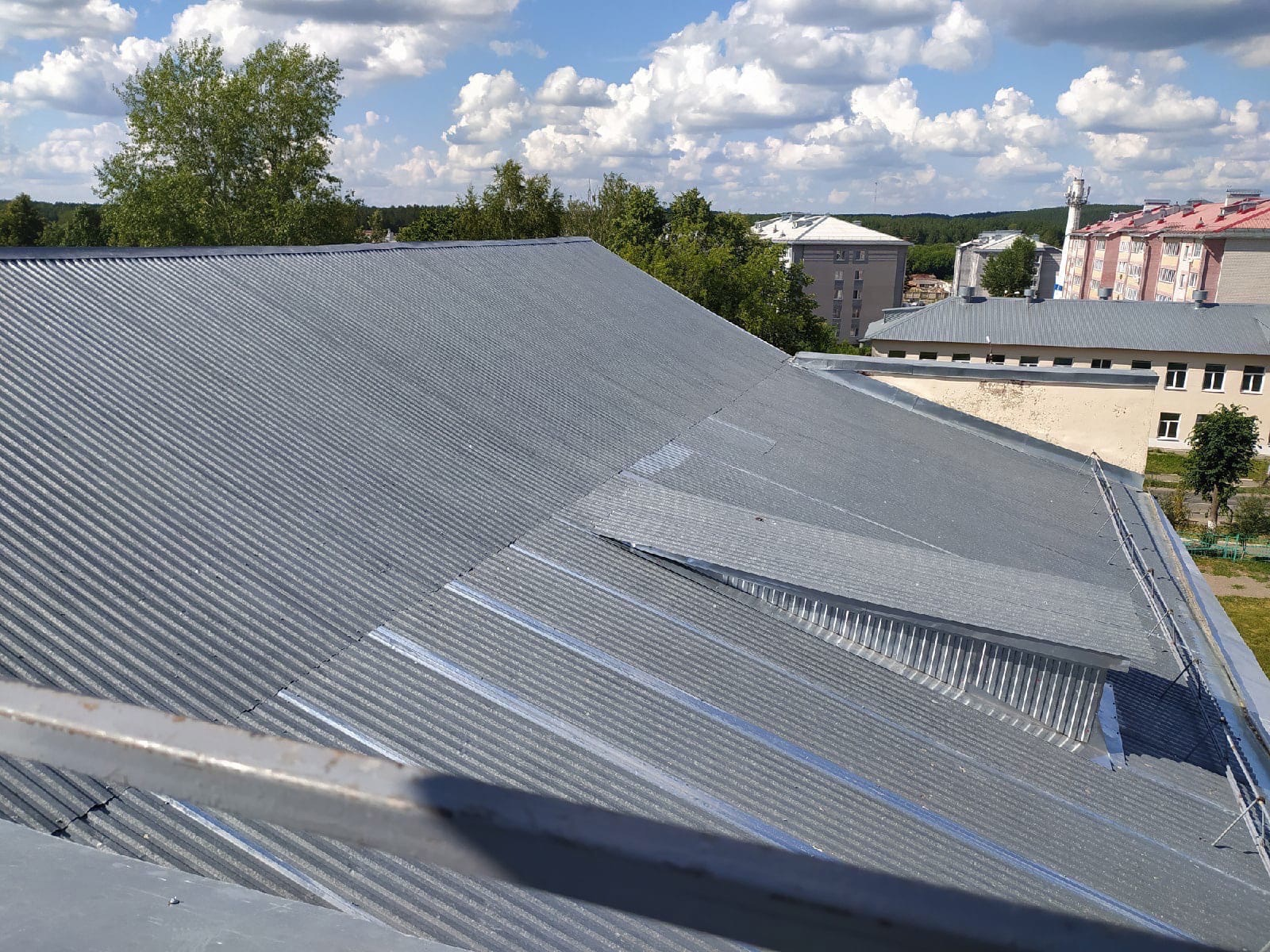 В школе №9 готова крыша!Приёмка выполненных работ