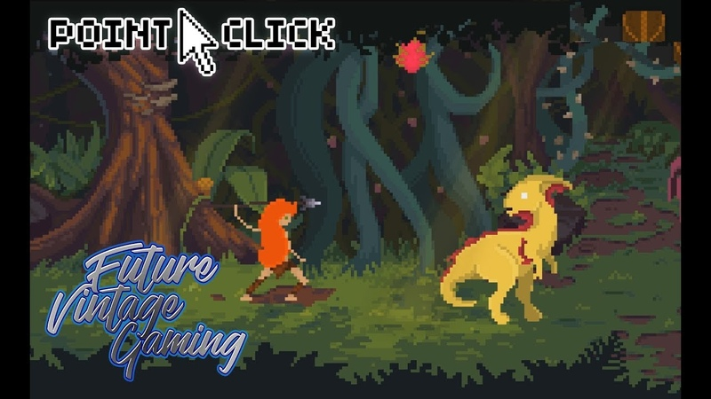 Theropods Demo AGS Free Retro Pixel Art Point and Click Adventure Game