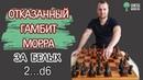 Отказанный гамбит Морра за белых с ходом черных 2...d6