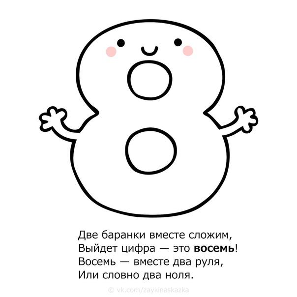 РАСКРАСКИ «ВЕСЁЛЫЕ ЦИФРЫ» Для малышей