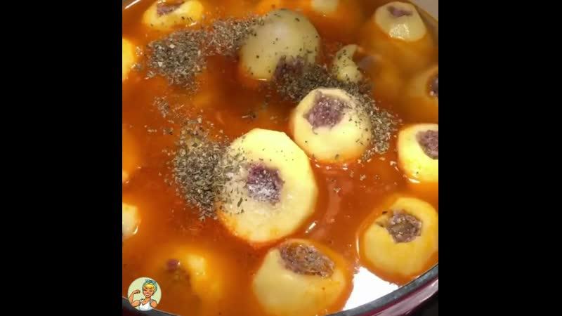 Необычная фаршированная картошка