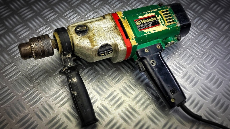 Vintage Eletrich Metabo Drill Restoration 🔧 Very Old 🛠 Metabo SB 8006 S-automatic 1975