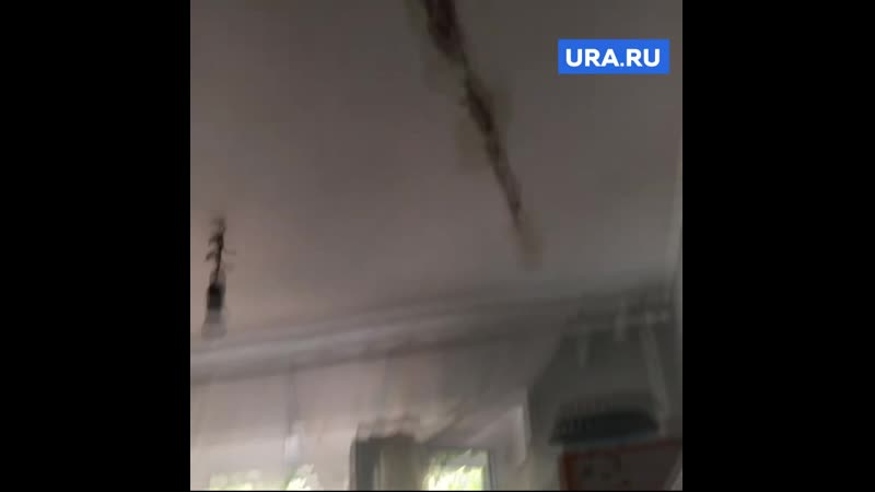 В Челябинске с потолка капали нечистоты Этажом выше нашли труп